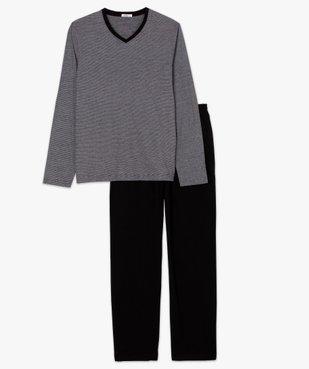 Pyjama homme bicolore à manches longues vue4 - GEMO(HOMWR HOM) - GEMO