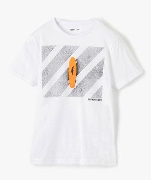 Tee-shirt garçon à manches courtes imprimé streetwear vue2 - GEMO (JUNIOR) - GEMO