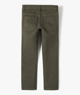 Pantalon garçon uni coupe Slim extensible  vue4 - GEMO (ENFANT) - GEMO