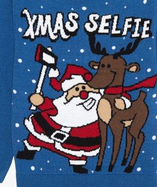 Pull de Noël garçon avec motif Père Noël et renne vue2 - GEMO (ENFANT) - GEMO
