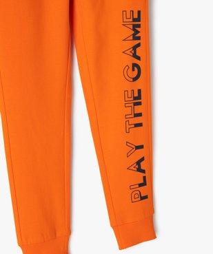 Pantalon de jogging garçon avec inscription sur la jambe vue2 - GEMO (ENFANT) - GEMO