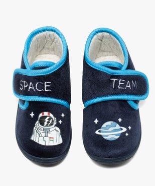 Chaussons garçon bottillons en velours ras astronaute vue6 - Nikesneakers C4G GARCON - Nikesneakers