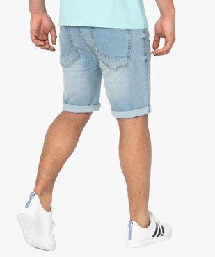Bermuda homme en jean délavé vue4 - Nikesneakers (HOMME) - Nikesneakers