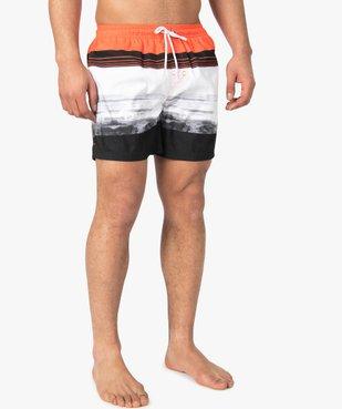 Short de bain homme multicolore vue1 - GEMO (PLAGE) - GEMO