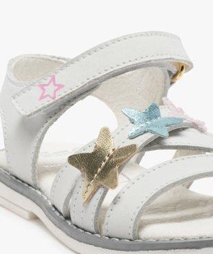 Sandales fille avec étoiles brodées sur le dessus vue6 - GEMO (ENFANT) - GEMO