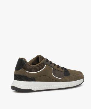Baskets homme style skateshoes multimatières à lacets vue4 - GEMO (CASUAL) - GEMO