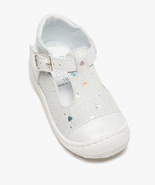 Sandales premiers pas bébé fille en cuir dessus pailleté vue5 - Nikesneakers(BEBE DEBT) - Nikesneakers