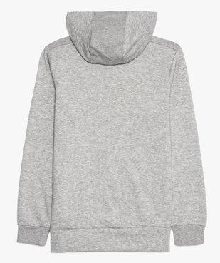 Sweat garçon à capuche avec poche kangourou - Adidas vue3 - ADIDAS - GEMO