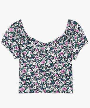 Haut de pyjama femme à motifs fleuris – Lulu Castagnette vue4 - LULUCASTAGNETTE - GEMO
