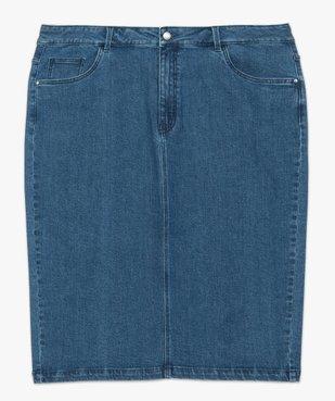 Jupe femme en jean fendue vue4 - GEMO (G TAILLE) - GEMO