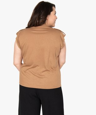 Tee-shirt femme boutonné sur l'avant vue3 - Nikesneakers (G TAILLE) - Nikesneakers