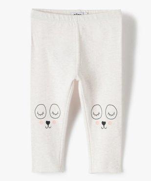 Pantalon bébé fille en maille avec motif fantaisie vue1 - GEMO C4G BEBE - GEMO