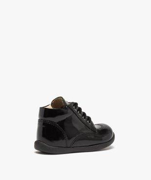 Chaussures premiers pas bébé fille à lacets dessus cuir verni vue4 - Nikesneakers(BEBE DEBT) - Nikesneakers