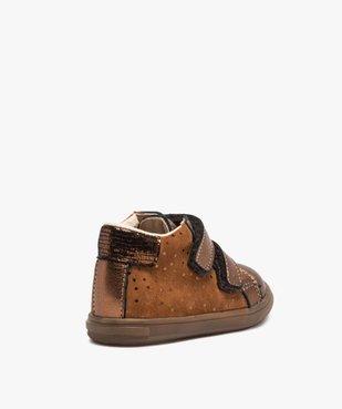 Chaussures de marche bébé dessus cuir brillant - Bopy vue4 - BOPY - Nikesneakers