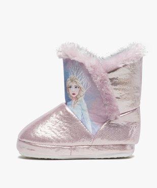 Chaussons fille boots à bords fourrés – Reine des Neiges vue3 - REINE DES NEIGE - GEMO