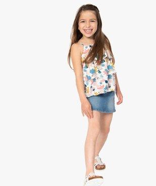 Jupe fille en jean extensible vue6 - GEMO (ENFANT) - GEMO