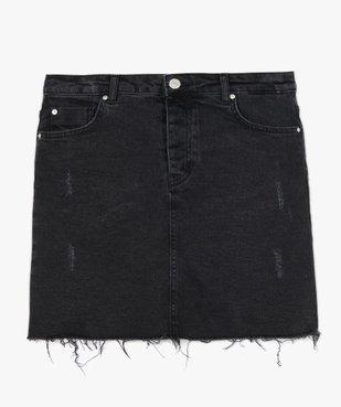 Jupe femme en jean aspect usé vue4 - GEMO(FEMME PAP) - GEMO