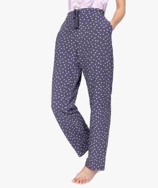 Pantalon de pyjama femme à motifs fleuris vue1 - Nikesneakers(HOMWR FEM) - Nikesneakers