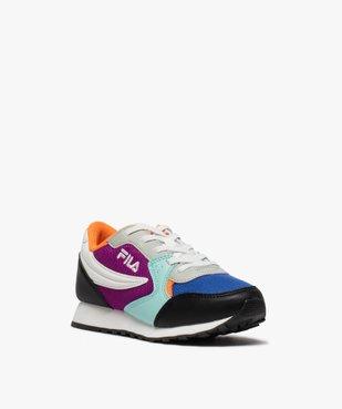 Baskets fille running colorées à lacets élastiques - Fila vue2 - FILA - GEMO