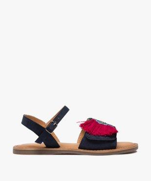 Sandales fille en cuir avec perroquet brodé vue1 - GEMO (ENFANT) - GEMO