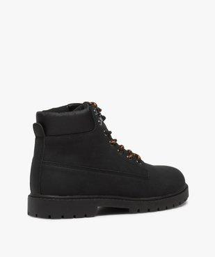 Boots homme à semelle crantée et lacets - Les Supaires à lacets bicolores vue4 - GEMO (CASUAL) - GEMO