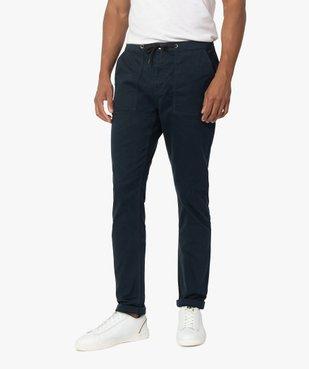Pantalon homme en toile avec taille élastiquée vue1 - Nikesneakers (HOMME) - Nikesneakers