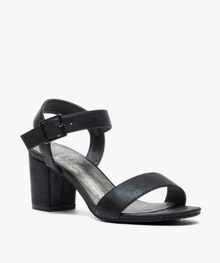 Sandales femme à talon et larges brides vue2 - GEMO(URBAIN) - GEMO