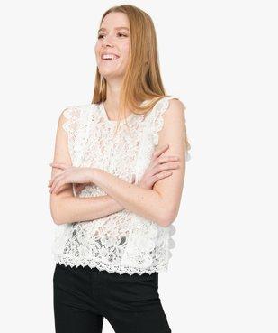 Blouse femme sans manches en dentelle vue1 - GEMO(FEMME PAP) - GEMO