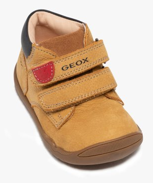 Chaussures premiers pas bébé en cuir - Geox vue5 - GEOX - GEMO