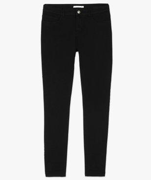 Pantalon femme en toile coupe slim 5 poches vue4 - GEMO (JEAN) - GEMO