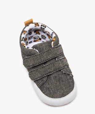 Chaussons de naissance bébé garçon en toile à scratch vue5 - Nikesneakers(BB COUCHE) - Nikesneakers