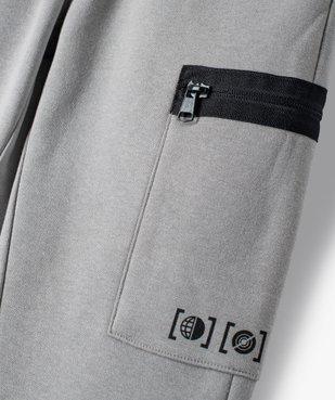 Pantalon de sport garçon en molleton à poches latérales vue2 - GEMO (ENFANT) - GEMO