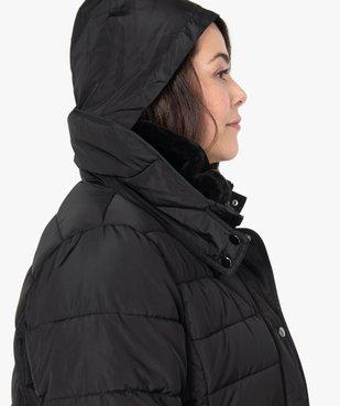 Manteau femme matelassé avec col doublé vue2 - GEMO (G TAILLE) - GEMO