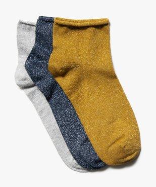 Chaussettes femme à paillettes tige courte (lot de 3 paires) vue1 - Nikesneakers(HOMWR FEM) - Nikesneakers