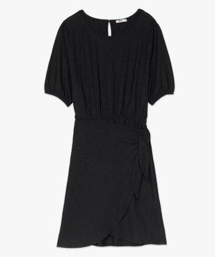 Robe femme à manches courtes avec bas façon portefeuille vue4 - GEMO(FEMME PAP) - GEMO