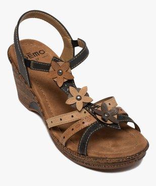 Sandales femme à talon compensé extra légères vue5 - GEMO(URBAIN) - GEMO