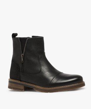 Boots homme zippés dessus cuir et doublure chaude vue2 - Nikesneakers (CASUAL) - Nikesneakers