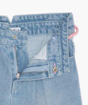 Jupe fille en jean avec pinces et ceinture – Lulu Castagnette vue3 - LULUCASTAGNETTE - GEMO