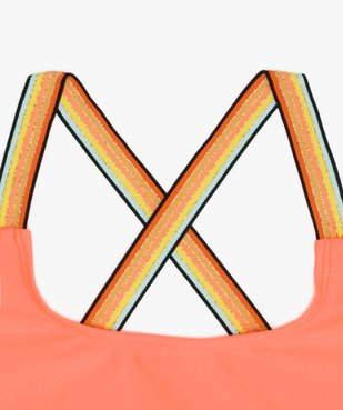Brassière de bain fille avec nœud fantaisie et bretelles multicolores  vue2 - GEMO (JUNIOR) - GEMO