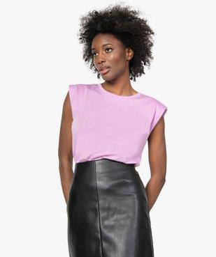 Tee-shirt femme à épaulettes sans manches vue1 - GEMO(FEMME PAP) - GEMO