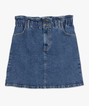 Jupe femme en jean avec taille froncée vue4 - GEMO(FEMME PAP) - GEMO