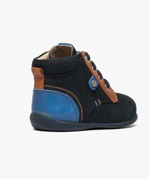 Chaussures bébé garçon semi-montantes dessus cuir - Absorba vue4 - ABSORBA - GEMO