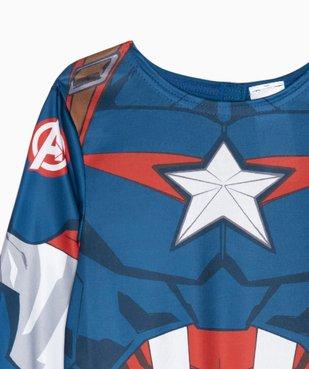 Déguisement enfant Captain America - Marvel (2 pièces : costume + cagoule masque) vue3 - MARVEL - GEMO