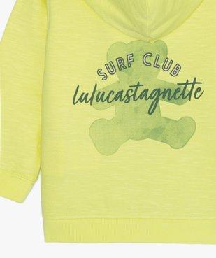 Sweat bébé garçon zippé à capuche - Lulu Castagnette vue3 - LULUCASTAGNETTE - GEMO