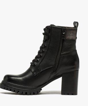 Boots femme à talon carré et semelle crantée – Tom Tailor vue3 - TOM TAILOR - GEMO