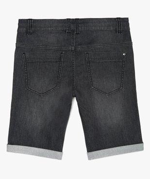 Bermuda garçon en jean extensible avec ceinture cordon vue4 - GEMO (JUNIOR) - GEMO