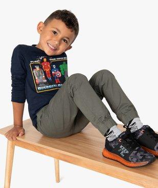 Pantalon garçon avec taille et chevilles élastiquées vue1 - GEMO (ENFANT) - GEMO