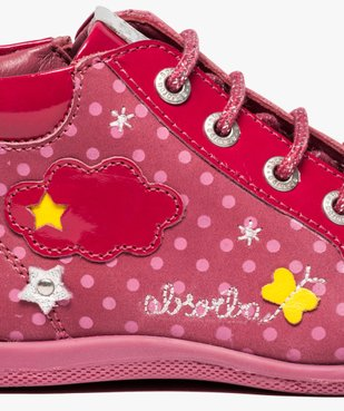 Chaussures montantes en cuir et cuir verni - Absorba vue6 - ABSORBA - GEMO