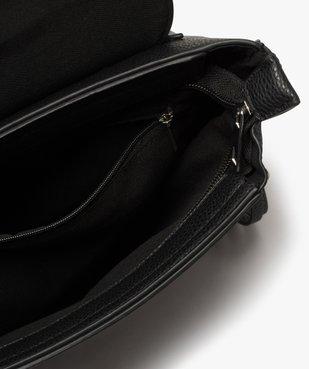 Sac à dos femme avec détails zippés vue3 - GEMO (ACCESS) - GEMO