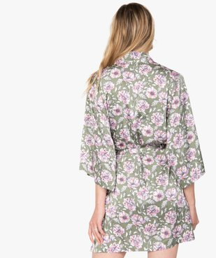 Veste d'intérieur femme à motifs fleuris vue3 - GEMO(HOMWR FEM) - GEMO